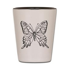 butterfly coloring Shot Glass