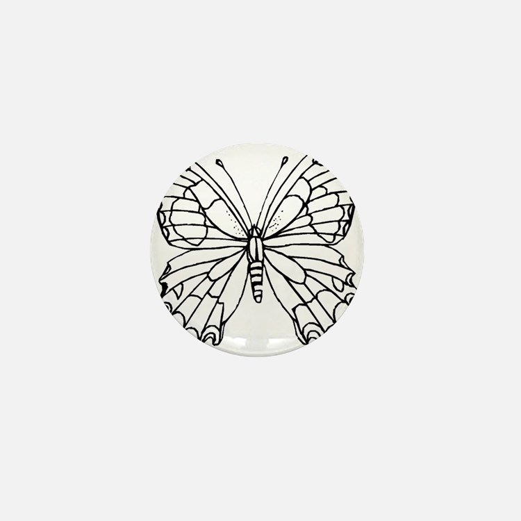 butterfly coloring Mini Button