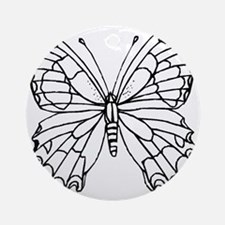 butterfly coloring Round Ornament