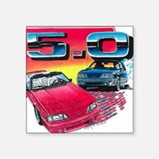 "Mustang% Square Sticker 3"" x 3"""