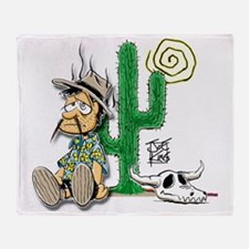 2-lost-dutchman-cactus Throw Blanket
