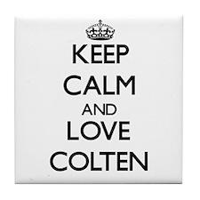 Keep Calm and Love Colten Tile Coaster