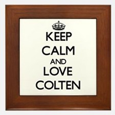 Keep Calm and Love Colten Framed Tile
