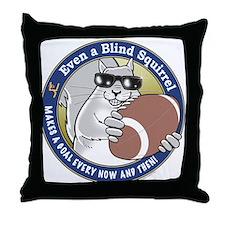 Football Blind Squirrel Throw Pillow