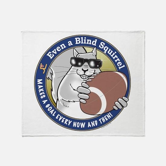 Football Blind Squirrel Throw Blanket