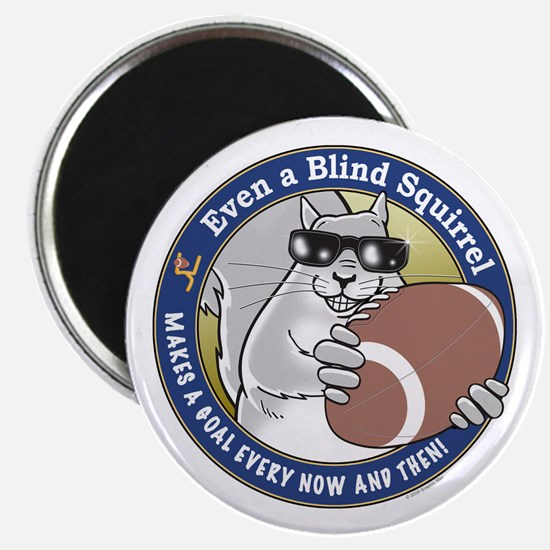 Football Blind Squirrel Magnet