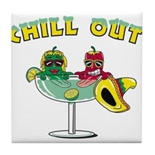 Chill Out Cocktail Tile Coaster