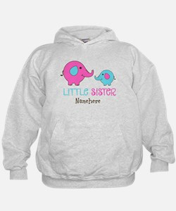 Little Sister Elephant Personalized Hoodie