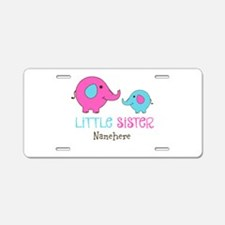 Little Sister Elephant Personalized Aluminum Licen