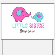Little Sister Elephant Personalized Yard Sign