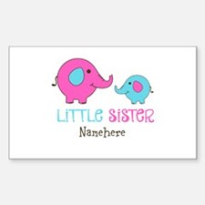 Little Sister Elephant Personalized Decal