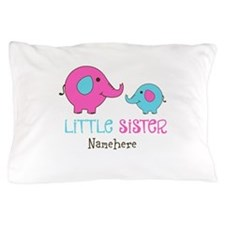 Little Sister Elephant Personalized Pillow Case