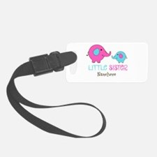Little Sister Elephant Personalized Luggage Tag