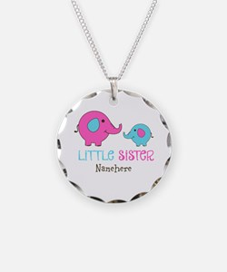 Little Sister Elephant Personalized Necklace