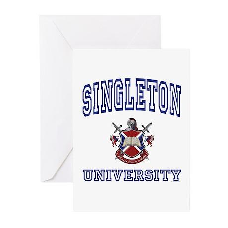 SINGLETON University Greeting Cards (Pk of 10)