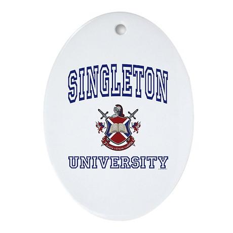SINGLETON University Oval Ornament
