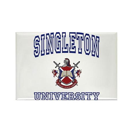 SINGLETON University Rectangle Magnet