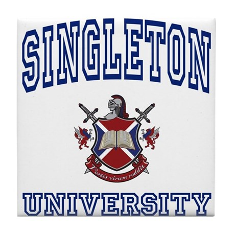 SINGLETON University Tile Coaster