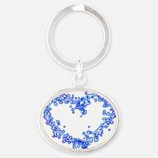 BlueHeart Oval Keychain