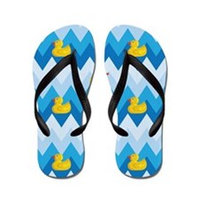 Duck Parade Chevron Pattern Flip Flops