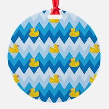 Duck Parade Chevron Pattern Ornament