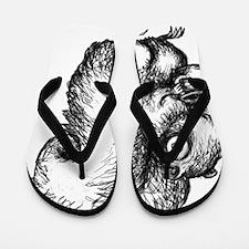 Caffeine Squirrel Flip Flops