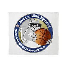 Basketball Blind Squirrel Throw Blanket