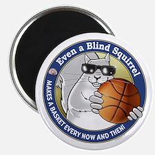 Basketball Blind Squirrel Magnet