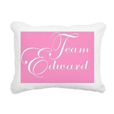 Team Edward Pink Rectangular Canvas Pillow