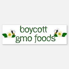 Boycott GMO Foods Bumper Bumper Bumper Sticker