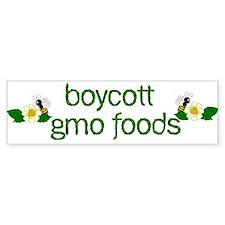 Boycott GMO Foods Bumper Car Sticker