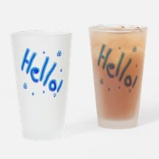 Hello Drinking Glass