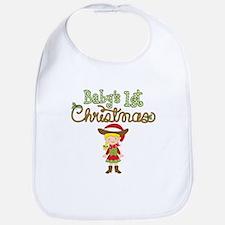 1st Christmas Cowgirl Bib