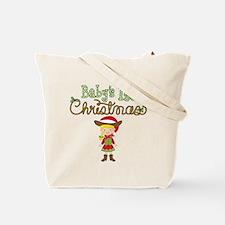1st Christmas Cowgirl Tote Bag