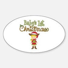 1st Christmas Cowgirl Decal