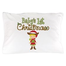 1st Christmas Cowgirl Pillow Case