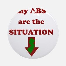 absrsituation Round Ornament