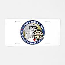 Darts Blind Squirrel Aluminum License Plate