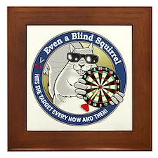 Darts Blind Squirrel Framed Tile