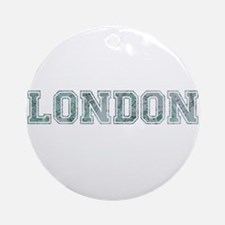 London text in blue Ornament (Round)