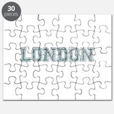 London text in blue Puzzle