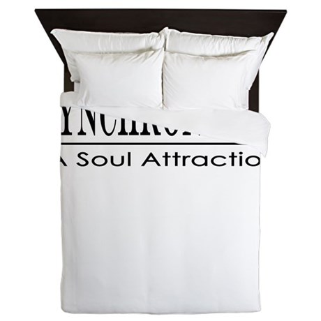 Syncronicity-soul attraction-up Queen Duvet