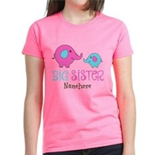 Personalized Big Sister Elephant Tee