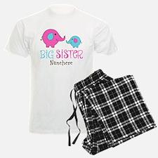 Personalized Big Sister Elephant Pajamas