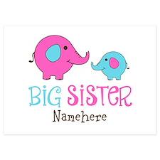 Personalized Big Sister Elephant Invitations
