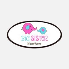 Personalized Big Sister Elephant Patches