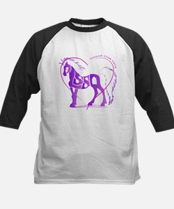 Alyssa purple horse in a heart Kids Baseball Jerse