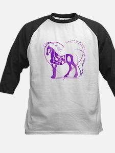 Alyssa purple horse in a heart Tee