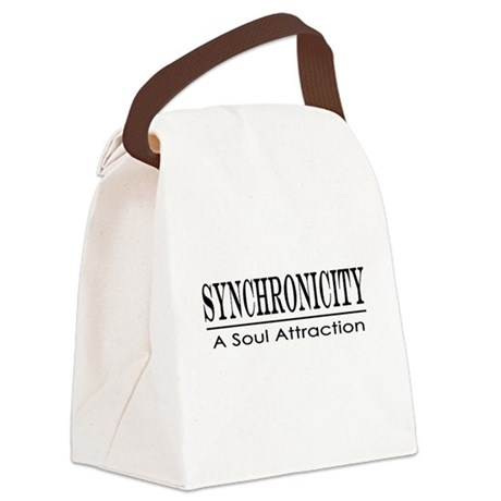 Syncronicity-soul attraction-low Canvas Lunch Bag