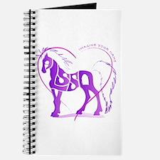 Alyssa purple horse in a heart Journal